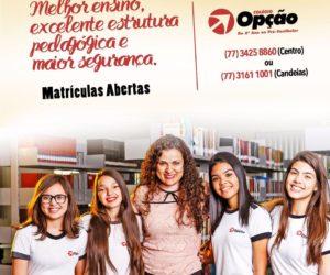 Colégio Opção - Matrículas Abertas Para 2017